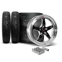 Weld Mustang RT-S Wheel & Tire Kit - 18x5/17x10  - Black (15-20) Mickey Thompson ET Street R Tires