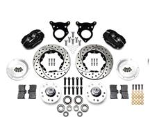 Mustang Wilwood Forged Dynalite Pro Series Front Brake Kit Black (87-93)