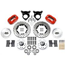 "Mustang Wilwood Forged Dynalite Pro Series Front Brake Kit - 4 Piston - 11"" - Red (87-93)"
