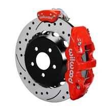 "Mustang Wilwood AERO4 Rear Brake Kit - 4 Piston - 14""  - Red (15-18)"