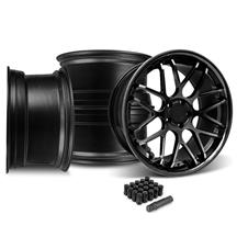 Mustang Downforce Wheel Kit - 20x8.5/10 Gloss Black (15-17)