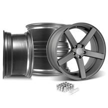 Mustang DF5 Wheel & Lug Nut Kit - 20x8.5/10 Matte Gunmetal (15-17)