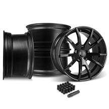 Mustang CDC Outlaw 20X9/10 Wheel & Lug Nut Kit  Black (05-14)