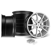 Mustang CDC Outlaw 20X9/10 Wheel & Lug Nut Kit  Silver (05-14)