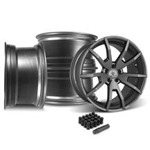 Mustang CDC Outlaw 20X9/10 Wheel & Lug Nut Kit  Satin (05-14)