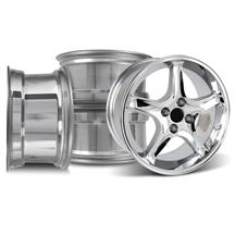 Mustang Cobra R Wheel Kit - 17x9 Chrome (79-93)