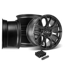 Mustang SVE Drift Wheel & Lug Nut Kit - 19x9.5 Flat Black (15-18)