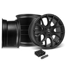 Mustang SVE Drift Wheel Kit - 18x9/10 Flat Black (15-17)