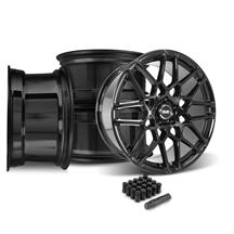 Mustang SVE S500 Wheel Kit - 20x8.5/10  - Gloss Black (15-17)