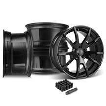 Mustang CDC  Outlaw 20X10 Wheel & Lug Nut Kit  Black (15-17)