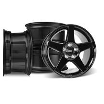Mustang 03 Cobra Wheel Kit - 17x9/10.5 Black (94-04)