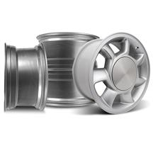 Mustang 5 Lug 93 Cobra Wheel Kit - 17x8.5 Silver (79-93)