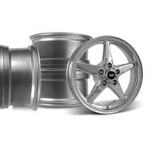 Mustang SVE Drag Wheel Kit 17x4.5/15x10  - Chrome (94-04)