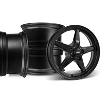 Mustang SVE Drag Wheel Kit 17X4.5/15x10 Gloss Black (94-04)