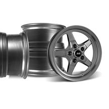 Mustang SVE Drag Wheel Kit 17X4.5/15x10 Dark Stainless (94-04)