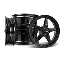 Mustang SVE Drag Wheel Kit 17x4.5/15x10  - Gloss Black (05-14)
