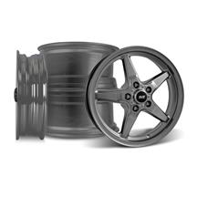 Mustang SVE Drag Wheel Kit 17x4.5/15x10 Dark Stainless (05-14)
