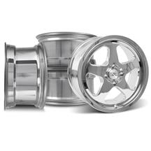 Mustang SC Wheel Kit - 17x8 Chrome (79-93)