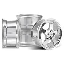 SVE Mustang Saleen SC Style Wheel Kit - 17x9/10  - Chrome (79-93)