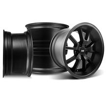Mustang FR500 Wheel Kit - 17x9/10.5 Flat Black (94-04)