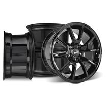 Mustang FR500 Wheel Kit - 17x9/10.5  - Gloss Black (94-04)