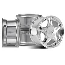 Mustang 5 Lug Pony Wheel & Ford Licensed Center Cap Kit  - 17x9/10 - Chrome (79-93)