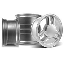 Mustang SVE Tri-Bar Wheel Kit - 17x8 - 4 Lug Silver (79-93)