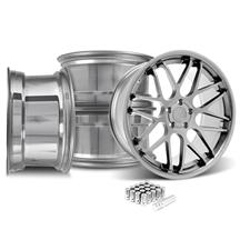Mustang Downforce Wheel & Lug Nut Kit - 20x8.5/10 Platinum (15-17)
