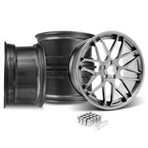 Mustang Downforce Wheel & Lug Nut Kit - 20x8.5/10 Platinum (15-18)