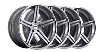 Mustang TSW Mirabeau Wheel Kit - 20x8.5/10 Silver w/ Mirror Face (05-15)