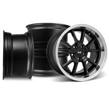 Mustang FR500 Wheel Kit - 20x8.5/10 Black w/ Mirror Lip (05-15)