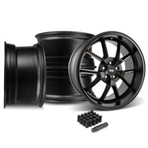 Mustang FR500 Wheel & Lug Nut Kit - 20x8.5/10 Matte Black (15-17)