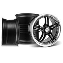 Mustang SVE Series 2 Wheel Kit - 19x9 Black w/ Polished Lip (05-14)