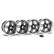 Mustang SVE Series 2 Wheel & Lug Nut Kit - 19x9/10 Black w/ Polished Lip (15-17)