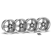Mustang SVE Series 2 Wheel & Lug Nut Kit - 19x9/10 Gun Metal w/ Polished Lip (15-17)