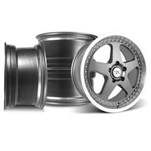 Mustang SVE Saleen SC Wheel Kit - 18x8.5  - Gun Metal w/ Mirror Lip & Rivets (94-04)
