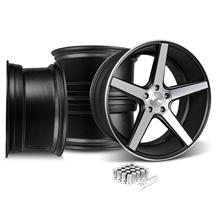 Mustang KMC 685 District Wheel & Lug Nut Kit - 20x8.5/10.5 Black w/ Machined Face (15-16)