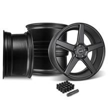 Mustang KMC 685 District Wheel & Lug Nut Kit - 20x8.5/10.5 Satin Black (15-17)