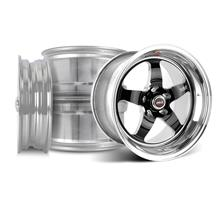 Mustang Weld RT-S Wheel Kit - 17x5/15x10 Black (94-04)