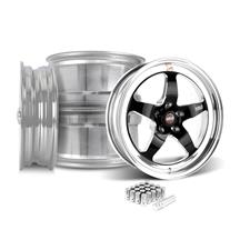 Mustang Weld RT-S Wheel Kit - 18x5/17x10 Black (05-14)