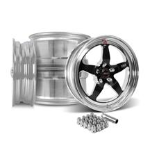 Mustang Weld RT-S Wheel Kit - 18x5/17x10  - Black (15-20)