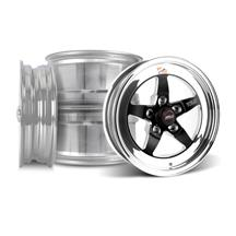 Mustang Weld 5-Lug RT-S S71 Wheel Kit- 15x4/10  - Black (79-93)
