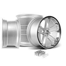 Mustang Rovos Cape Town Wheel Kit- 20x8.5/10  - Satin Silver (05-14)