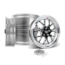 Mustang Weld RT-S S77 Wheel Kit - 18x5/17x10  - Black w/ Polished Lip (15-19)