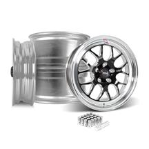 Mustang Weld RT-S S77 Wheel Kit - 17x5/10  - Black w/ Polished Lip (15-19)