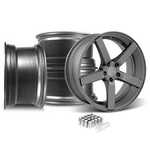 Mustang DF5 Wheel & Lug Nut Kit - 20x8.5 Matte Gunmetal (15-17)