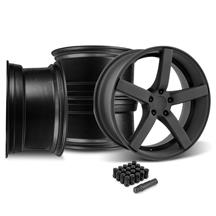 Mustang DF5 Wheel & Lug Nut Kit - 20x8.5 Flat Black (15-17)