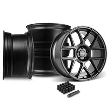 Mustang American Racing Apex Wheel Kit - 20x10  - Satin Black (05-14)