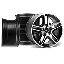 Mustang GT500 Wheel Kit - 18x9/10 Gloss Black w/ Machined Face (05-14)