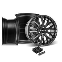 Mustang Performance Pack Wheel Kit - 19x9/9.5  - Satin Black (15-18)